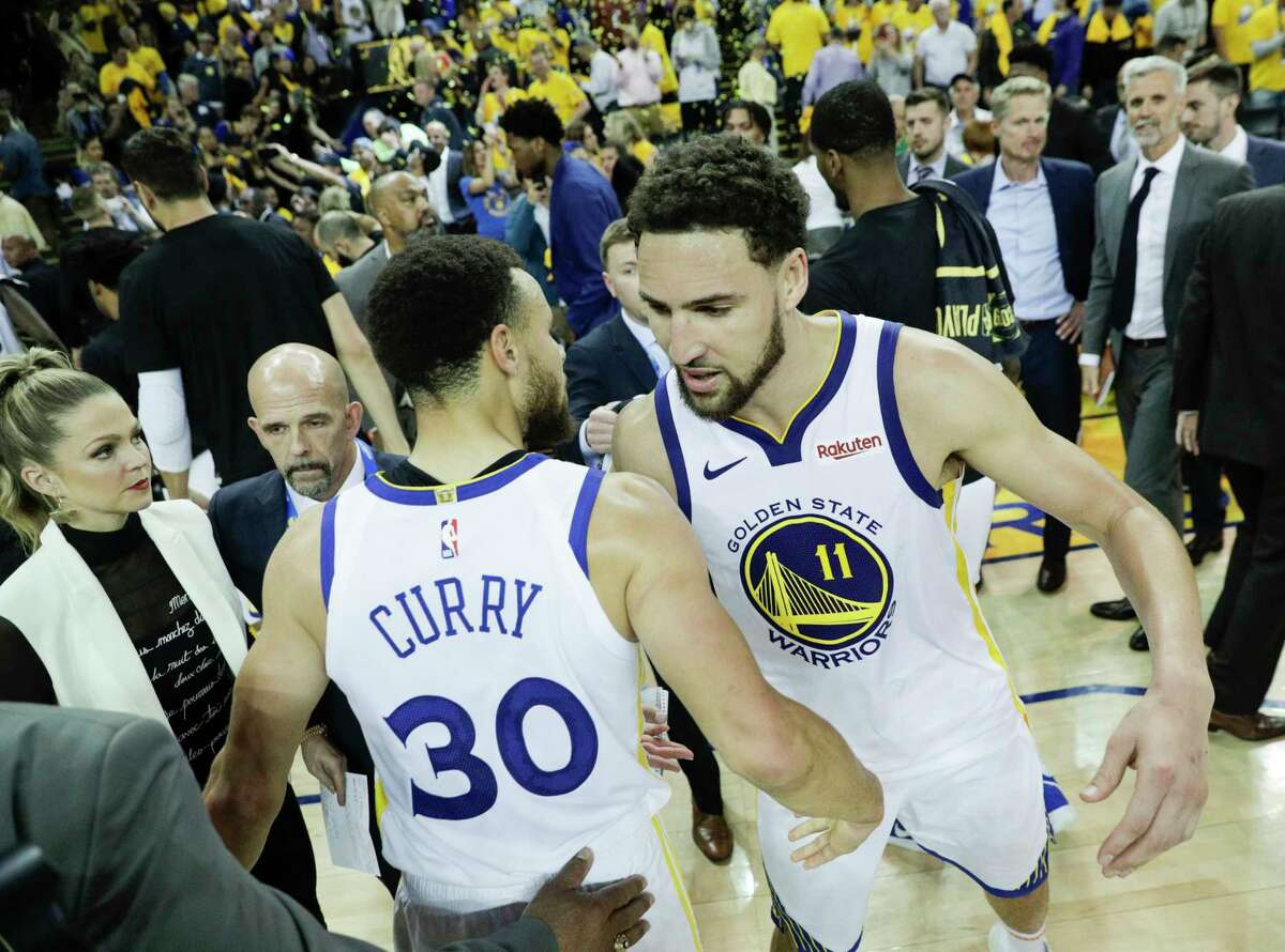 Stephen Curry and Klay Thompson remain Warriors cornerstones after the team had several offseason departures, but Thompson is expected to miss most of the upcoming season while recovering from a knee injury suffered in the NBA Finals.