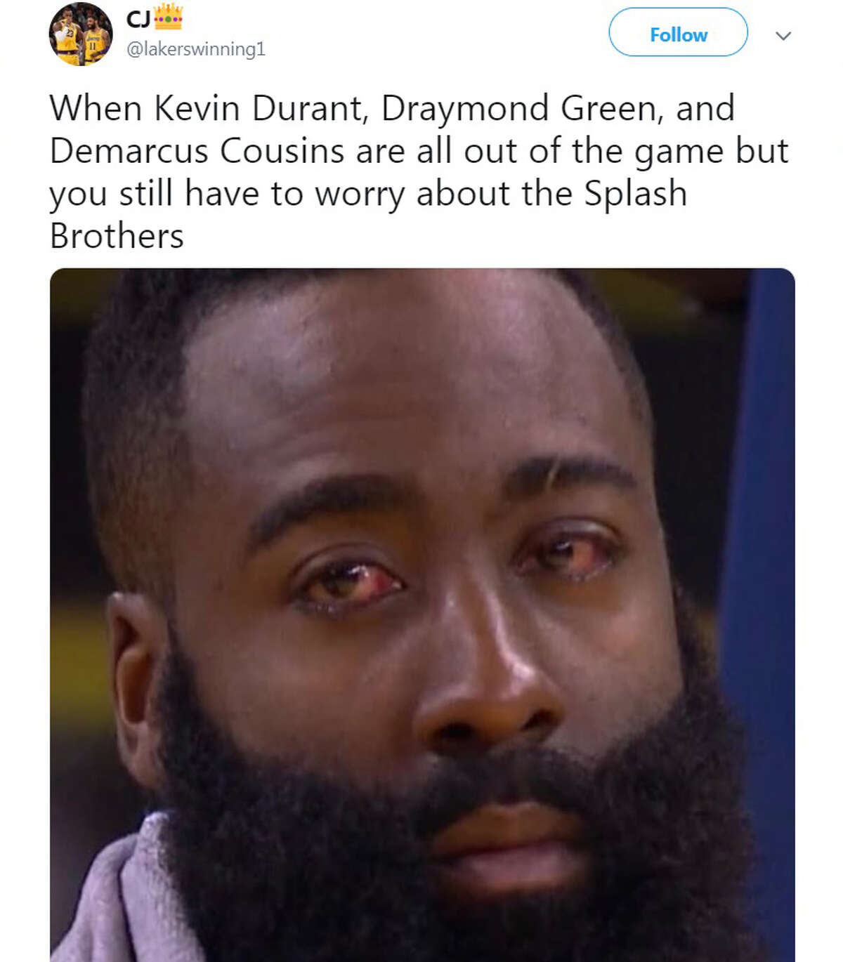 The Internet came alive when the Warriors Kevin Durant went down with a non-contact injury during a game against the Rockets on Wednesday, May 9, 2019.