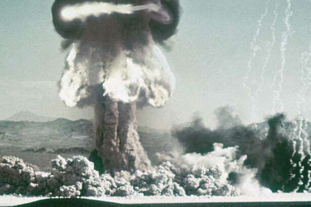 During the 1950s, nuclear bomb tests were conducted at Bikini Atoll in the Pacific Ocean