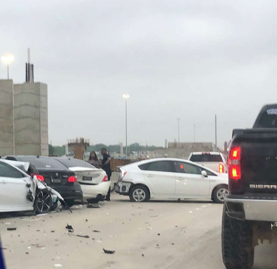 A four-car crash shut down northbound Highway 288 at the Beltway on Thursday morning. Photo: TxDOT