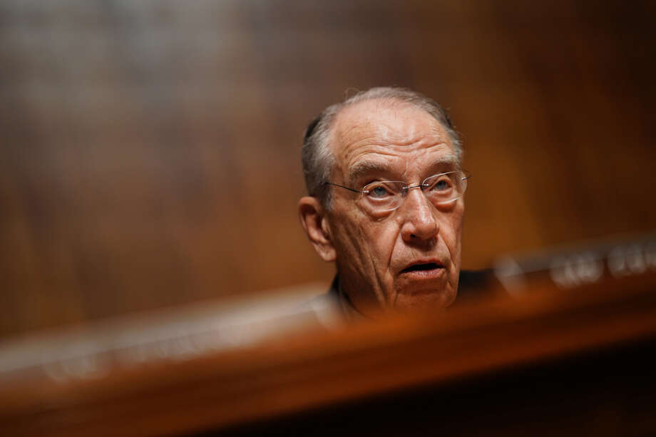 Sen. Chuck Grassley, R-Iowa, Iowa, speaks during a Senate Judiciary Committee hearing with Attorney General William Barr (not pictured) in Washington on May 1, 2019. Photo: Bloomberg Photo By Andrew Harrer. / © 2019 Bloomberg Finance LP