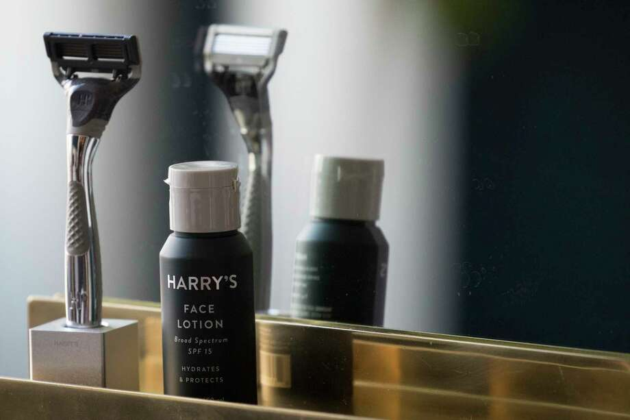FILE - In this June 15, 2018, file photo, the Winston razor and Harry's face lotion are on display at the headquarters of Harry's Inc., in New York. Harry's, the upstart shaving company, is being acquired by the owner of Schick razors for $1.37 billion, which was announced Thursday, May 9, 2019. (AP Photo/Mary Altaffer, File) Photo: Mary Altaffer / Associated Press / Copyright 2018 The Associated Press. All rights reserved.