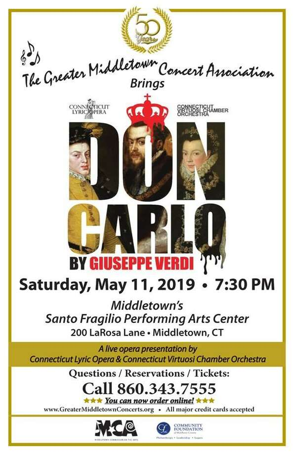 """The Connecticut Lyric Opera and Connecticut Virtuosi Chamber Orchestra are coming to Middletown on Saturday, May 11, 7:30 p.m., presenting a live, fully-staged performance of Verdi's grandest of grand operas, """"Don Carlo."""" Photo: Contributed Photo /"""