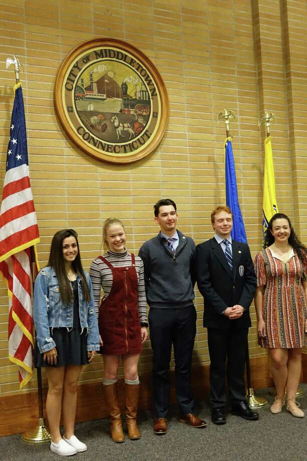 In a recent event at Middletown's Council Chambers, Wadsworth Chapter Daughters of the American Revolution recognized its Good Citizen Award winners. Given as part of DAR's commitment to education of our youth, the Good Citizen Award recognizes high school seniors who exemplify the qualities of a good citizen: dependability, service, leadership and patriotism. The recipients are chosen by their schools because they best demonstrate these qualities in their homes, schools, and communities. This year's honorees include Ryan Douglas of Vinal Technical High School. Photo: Contributed Photo