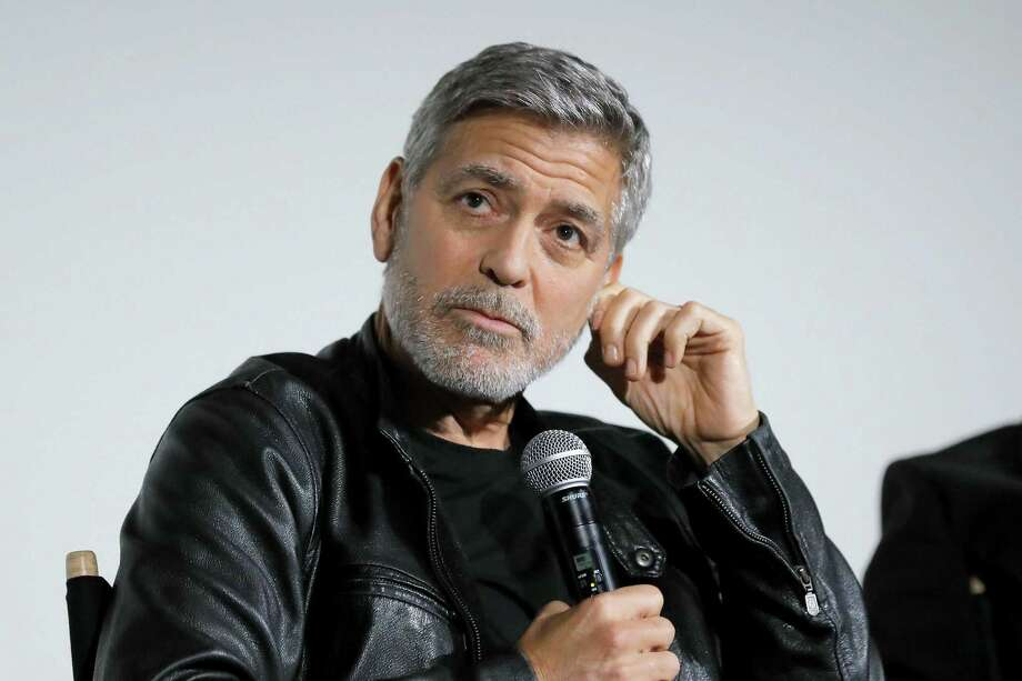 """NEW YORK, NEW YORK - MAY 01: George Clooney speaks onstage during Hulu's """"Catch-22"""" New York Special Screening at DGA Theatre on May 01, 2019 in New York City. (Photo by JP Yim/Getty Images for Hulu) Photo: JP Yim, Stringer / Getty Images For Hulu / 2019 Getty Images"""