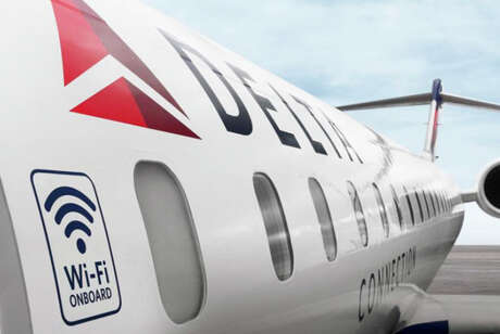 Most of Delta's fleet is Wi-Fi equipped.