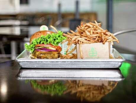 Classic burger and fries at BuffBurger.