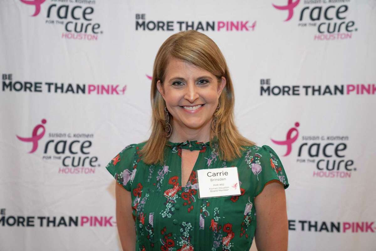 Carrie Brinsden at the Susan G. Komen Houston's annual dinner event at The Houstonian Hotel on April 16.