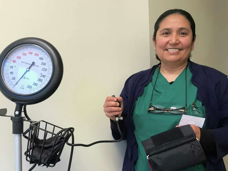 After completing her work to get get a GED through the Harris County Department of Education, Andrea Rodriguez went on to enter a free certified nursing assistant program. Photo: Harris County Department Of Education