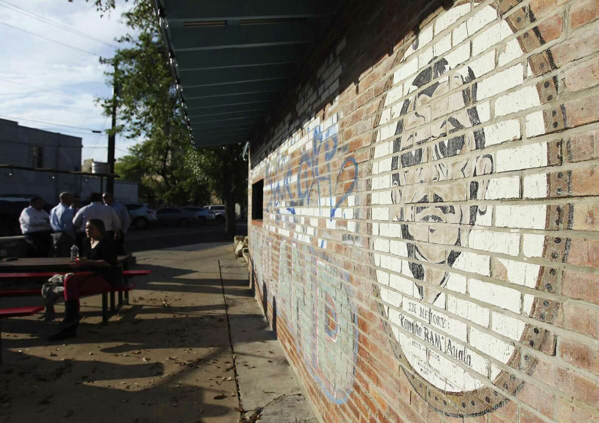 """The mural in honor or Ramiro """"Ram"""" Ayala is seen on a wall at Viva Tacoland in 2014."""