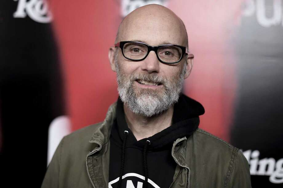 """MOBY IN HAMDEN: Musician Moby (seen here at a Los Angeles event in March) will launch his memoir """"Then It Fell Apart"""" Wednesday, May 15, at 7 p.m. in conversation with actor Michael Ian Black at Space Ballroom in Hamden. The event is co-sponsored by RJ Julia Booksellers. While this is not a concert, Moby is expected to play a few acoustic songs after the talk, celebrating the 20th anniversary of his landmark album, """"Play."""" Tickets at $34.95 include a copy of the book. See Spaceballroom.com. Photo: Richard Shotwell / Invision-AP / 2019 Invision"""