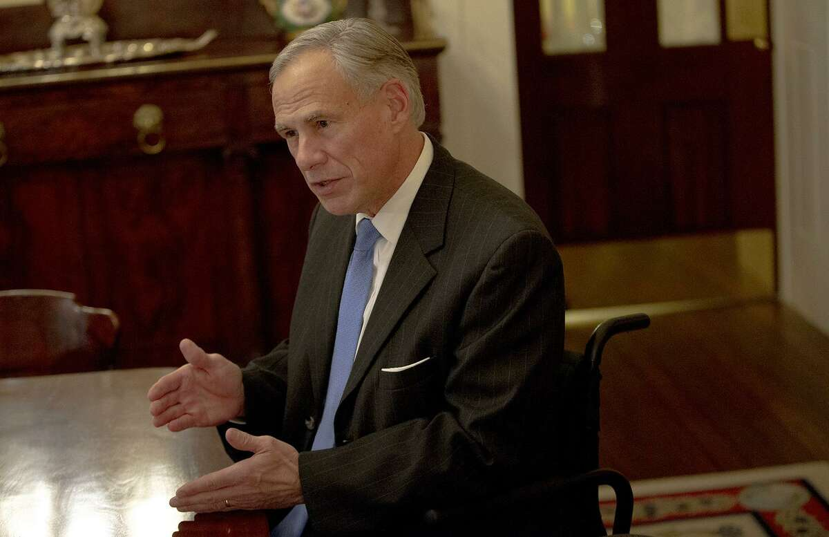Texas Gov. Greg Abbott speaks during an interview at the Texas Governor's Mansion in December. Abbott on Tuesday signed a bill limiting the scope of a controversial anti-Israel boycott law that a federal judge blocked from enforcement in late April. (Nick Wagner/Austin American-Statesman via AP)