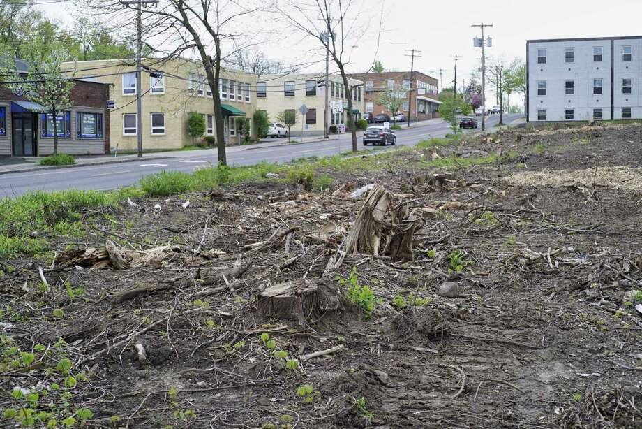 A view of a lot at 60 Colvin Ave., where trees were cut down recently, seen here on Thursday, May 9, 2019, in Albany, N.Y.   (Paul Buckowski/Times Union) Photo: Paul Buckowski, Albany Times Union / (Paul Buckowski/Times Union)