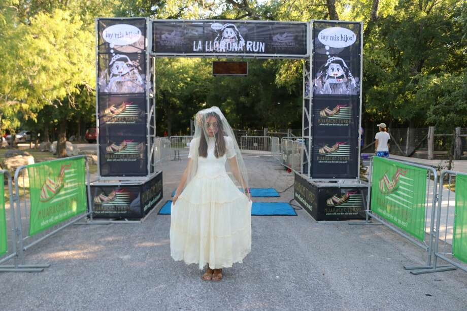 From 6 to 9 p.m. on Saturday, teams of four runners will take on the 2-mile La Llorona Relay Run at Lady Bird Johnson Park . The 2019 event marks the 4th year that runners dress up in ghoulish gear and take to the trails. Photo: Courtesy, Huarache Turbo