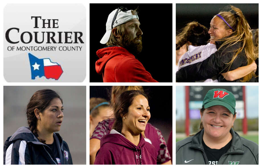 John Epps (Splendora), Brandi Wilkinson (Montgomery), Miriam Morales (Oak Ridge), April Cleveland (Magnolia) and Dina Graves (The Woodlands) are The Courier's nominees for Coach of the Year. Photo: Staff Photos