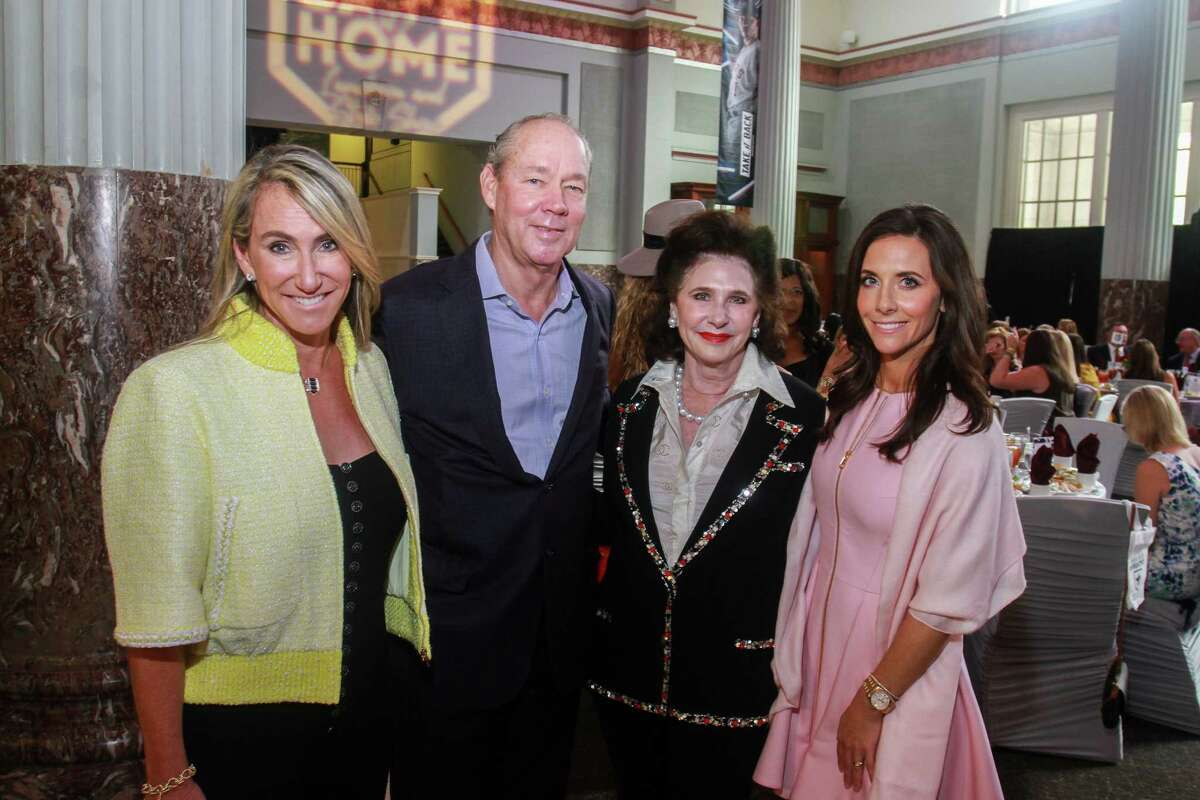 Courtney Sarofim, from left, Jim Crane, Elyse Lanier and Hannah McNair at the Astros Foundation's Safe at Home Luncheon and Style Show.