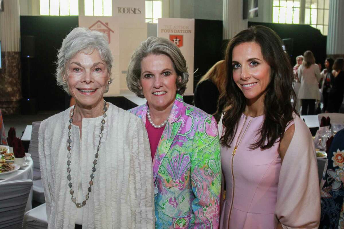 Janice McNair, from left, Twila Carter and Hannah McNair at the Astros Foundation's Safe at Home Luncheon and Style Show.
