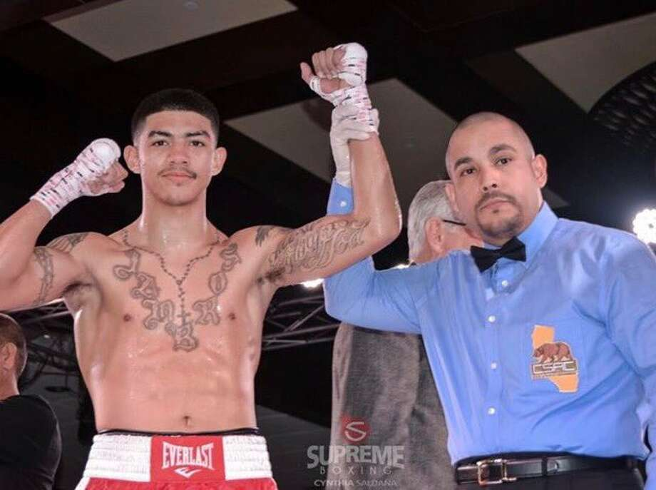 Boxer Michael Dutchover, a Midland High grad, is seen here after a recent win. Photo: Cynthia Saldana/Special To The Reporter-Telegram