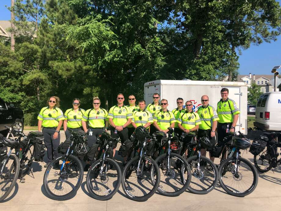 The Montgomery County Hospital District's paramedics on bike team works first response at multiple events throughout the year. Photo: Courtesy Of The Montgomery County Hospital District