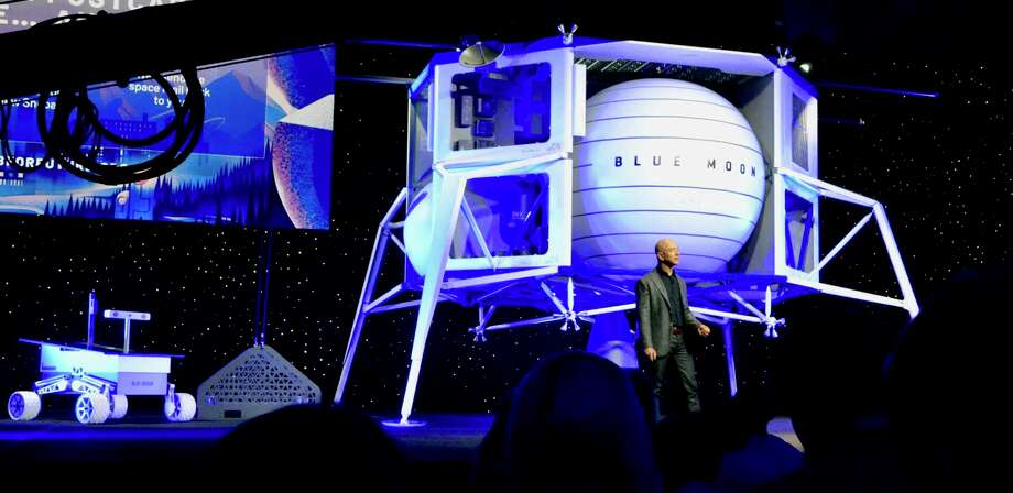 Jeff Bezos, we saw you standing alone, with a dream in your heart, and a moon lander of your own. Photo: Ben Fox Rubin/CNET