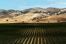 The vineyards and rolling hills of Hames Valley, on Thursday September 06, 2012, near Bradley, Calif., where the battle for mineral rights is underway. Nearly 18,000 acres of underground minerals in Monterey, San Benito and Fresno counties, all part of a chunk of rock known as the Monterey Shale, are shaping up as the latest stage for California's battle over fracking. Hydraulic fracturing, or fracking, consists of drilling and injecting fluid into the ground at high pressure to fracture shale rocks to release natural gas. The process is now heating up in California, where companies aren't required to say which chemicals they use, where they frack or even if they frack. Environmentalists have been pressuring state legislators to disclose that information, saying methane gas and toxic chemicals leach out from the system and contaminate groundwater.