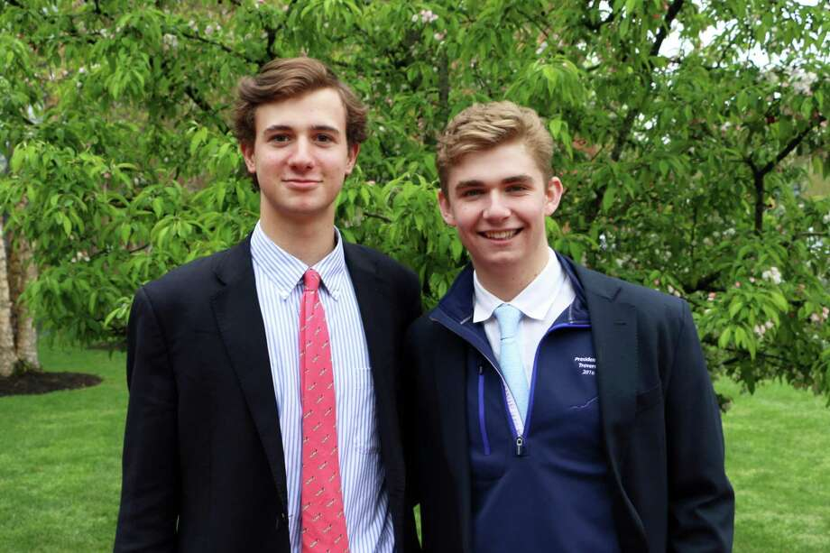 Nick Spizzirri, left, and Brian Leonard of Brunswick School were each named All-American by US Squash. Photo: Contributed Photo / Contributed Photo / Greenwich Time Contributed