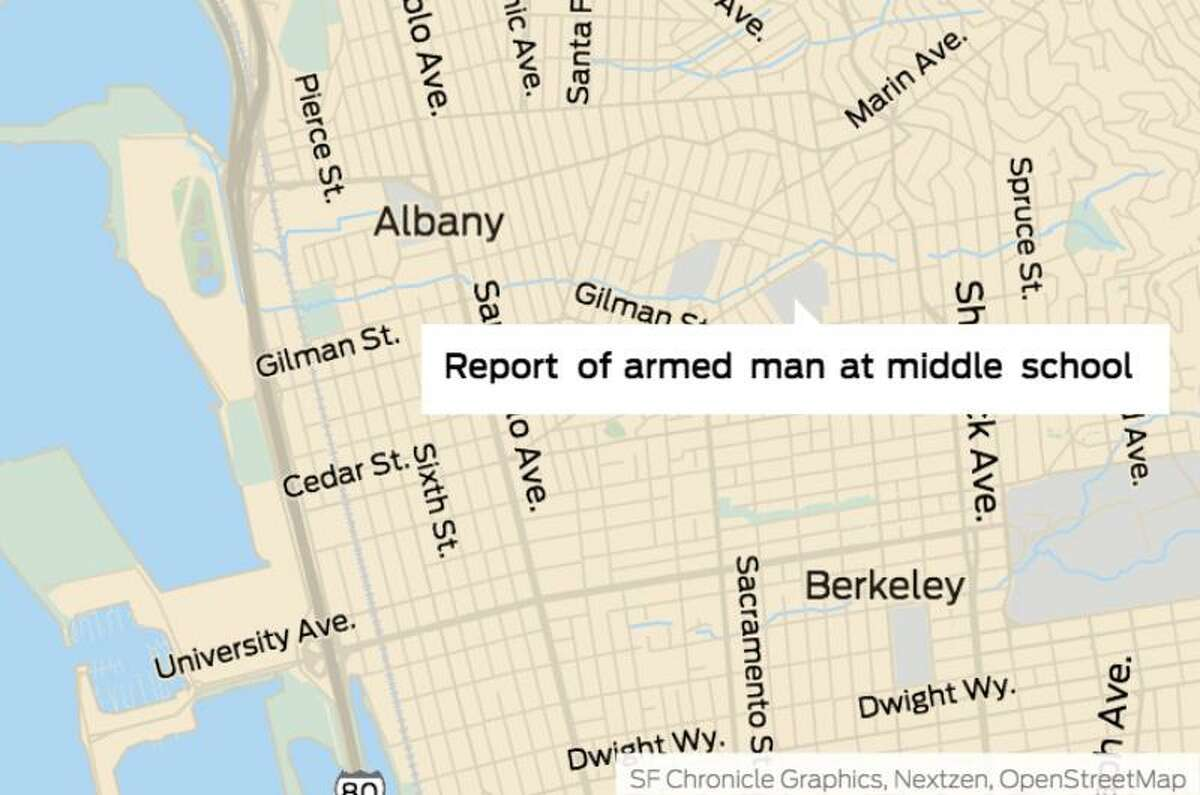 Berkeley police responded to a report of a man carrying a handgun on the Martin Luther King, Jr. Middle School campus in Berkeley soon after students were released from classes on Thursday, May 9, 2019, prompting a search of the campus, authorities said.