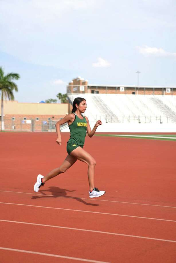 Nixon's Alexa Rodriguez is set to run at the state meet on Saturday. She will run the 3,200-meter run at 8 a.m. then compete in the 1,600-meter run at 9:35. Photo: Christian Alejandro Ocampo /Laredo Morning Times / Laredo Morning Times
