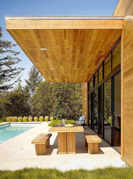 Designed by San Francisco-based architect Julie Dowling as her personal home, this 2,240-square-foot contemporary rests on 22 acres in the Russian River Valley.