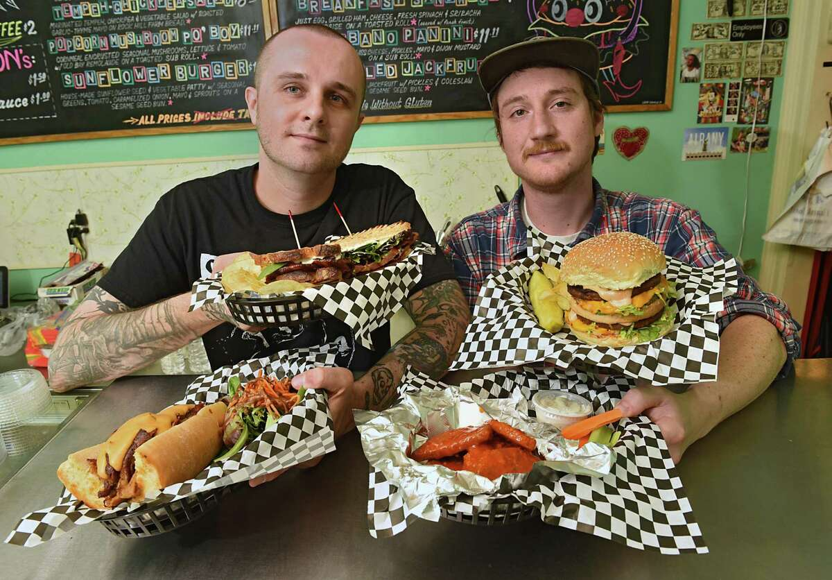 Owners Joey Berben, left, and Max Wolff of Berben & Wolff's Delicatessen. (Lori Van Buren/Times Union)