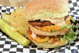 The Big Max burger at Berben & Wolff's Delicatessen on Wednesday, May 8, 2019 in Albany, N.Y. (Lori Van Buren/Times Union)