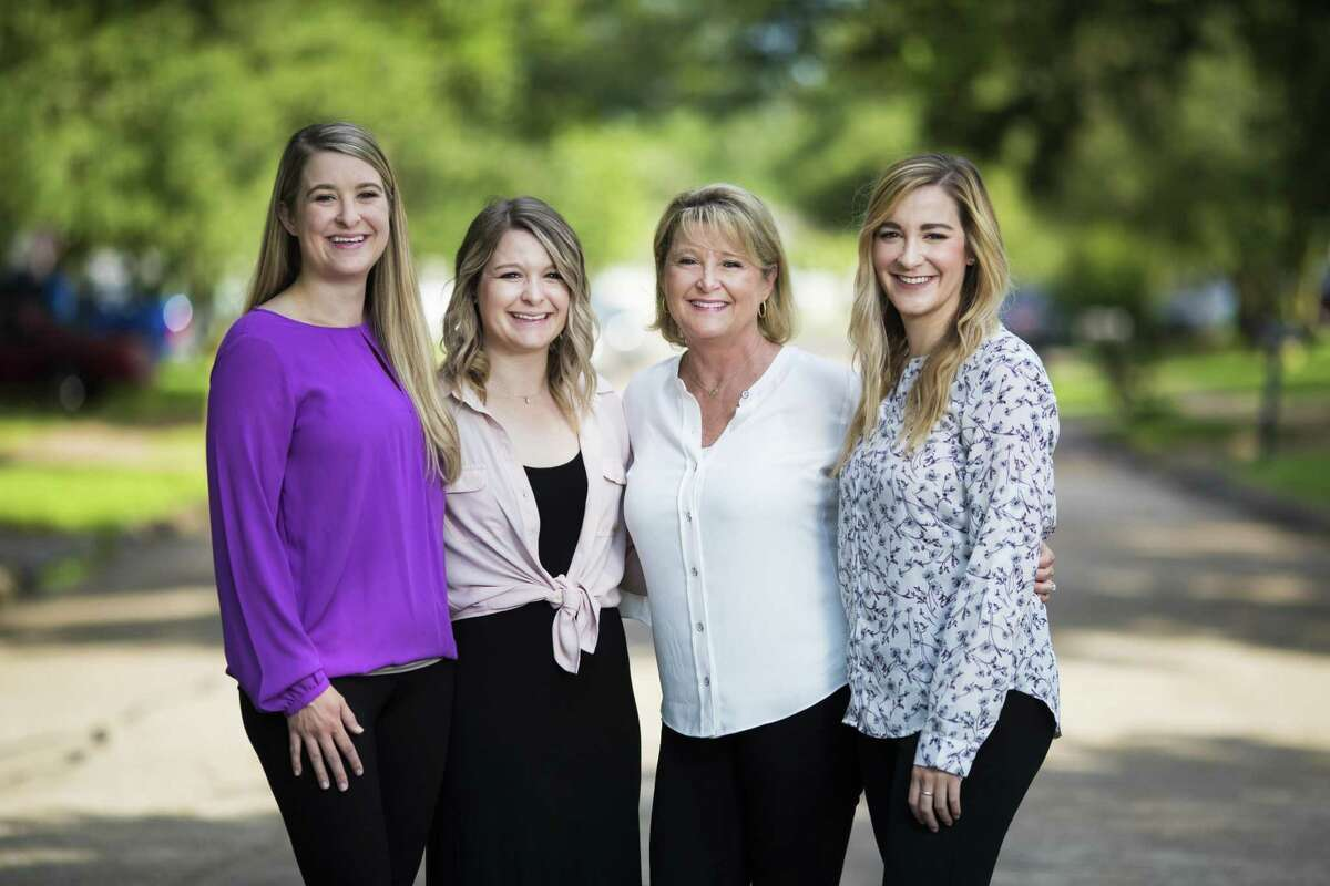 Xan Difede, center right, 53, and her daughters (left to right) Lindsey Halmon, 30, Meredith Hatz, 26, and Ally Hatz, 28, are all working in the oil and gas industry in Texas. The three daughters say they got a lot of advice from their mother who started in the industry many years ago. Saturday, May 4, 2019, in Friendswood.