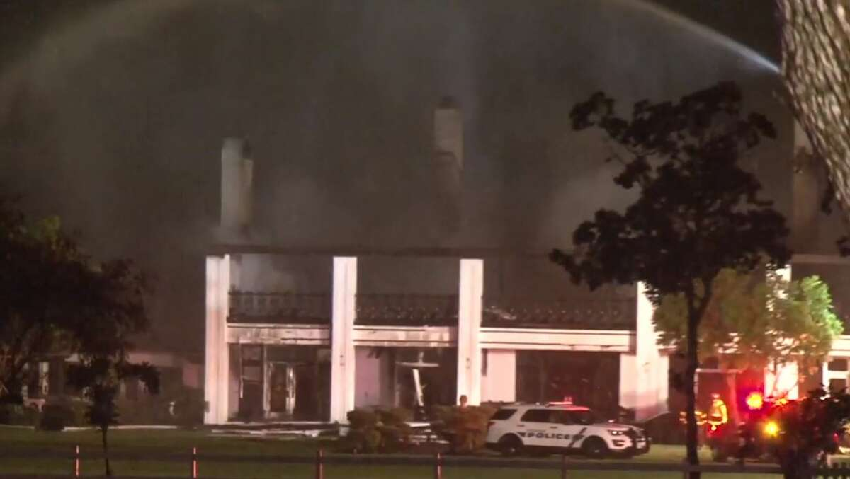 A $2.6 million Friendswood mansion was consumed in flames Thursday night during the severe weather.Officials were unsure if the fire was weather-related or how it started.