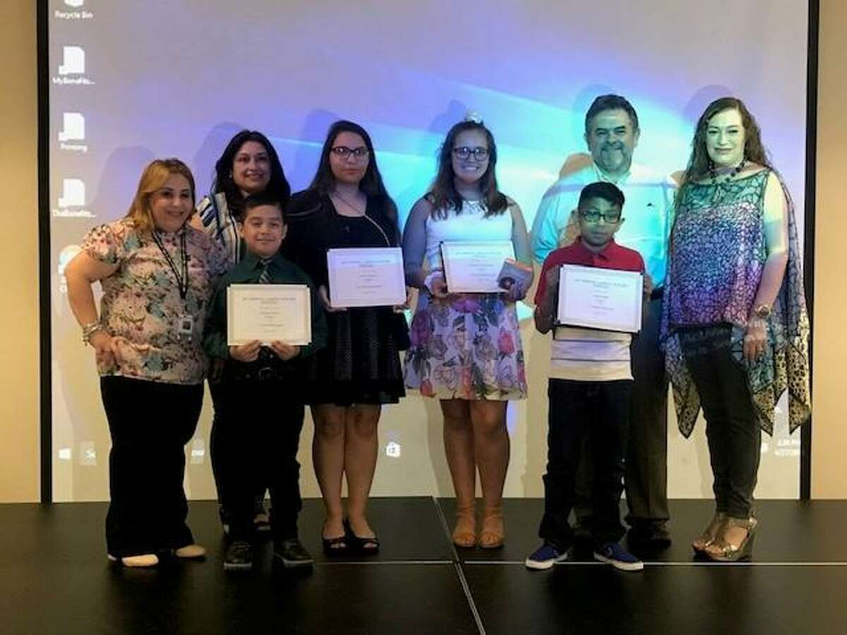 Shown are the LISD students who won the 16th annual poetry contest at the Laredo Poetry Festival.