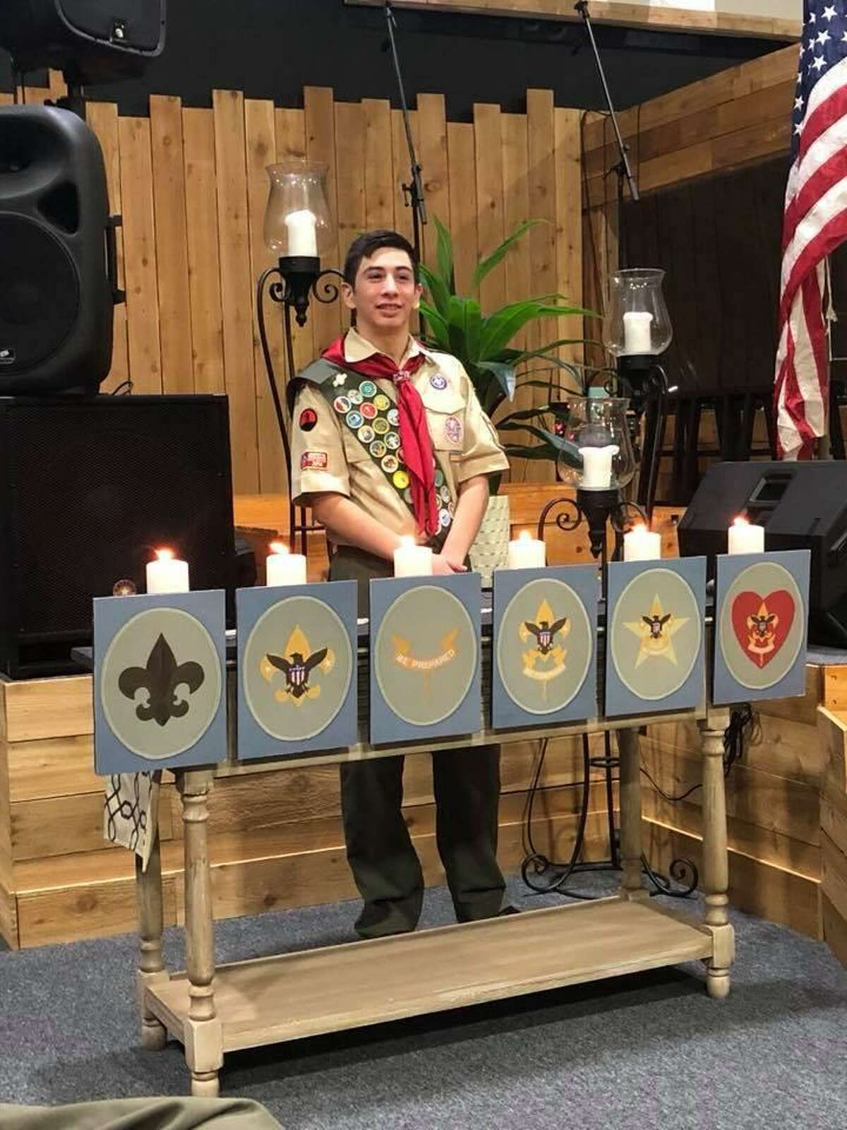 Samuel Matthew Lopez reached Boy Scout's highest rank by earning an Eagle Scout award; his greatest achievement, at Troop 471.