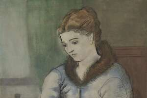 "Pablo Picasso's ""La Lettre (La Reponse),"" a 1923 portrait of his then-wife Olga, sold for $22 million (realizing more than $25 million, with commissions) during Christie's Impressionist and Modern Art Evening Monday. The painting was among several masterpieces from the estate of H.S.H. Princess ""Titi"" von Furstenburg, an heiress of Houston's Blaffer family."