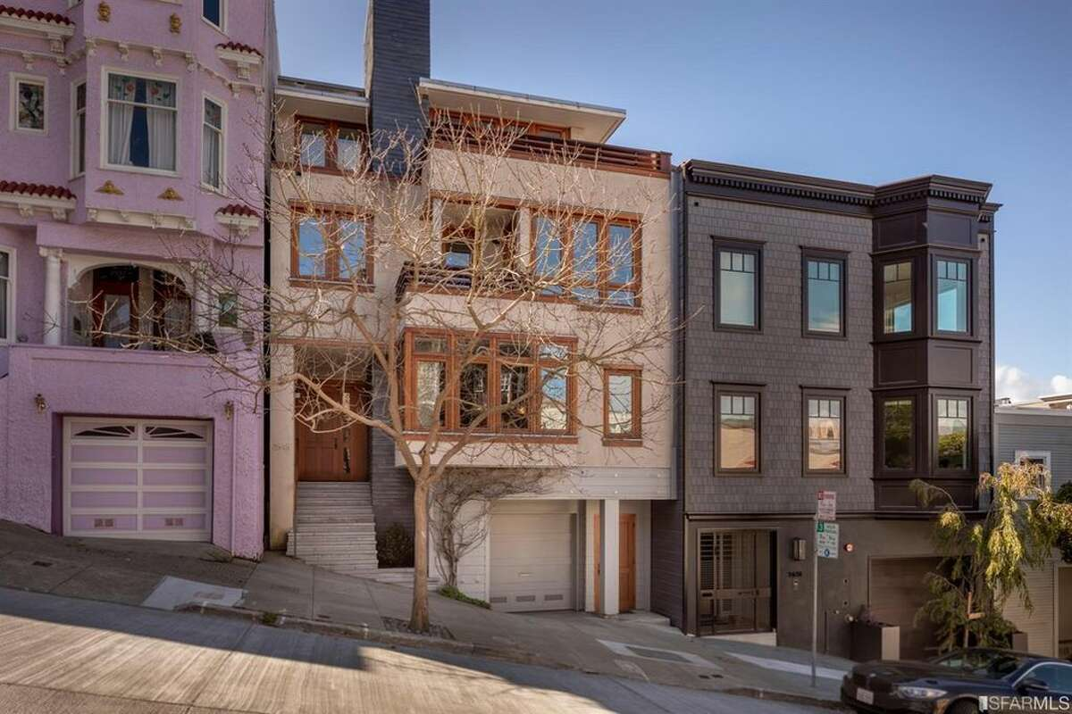 In San Francisco's Cow Hollow neighborhood, 2645 Baker St. is a plush modern home built in 2003 with five bedrooms and five bathrooms.
