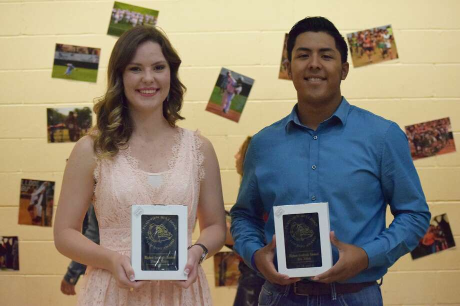 Jesse Long and Andrew Villa were recognized as the Top Academic Award recipients. Photo: Ellysa Harris/Plainview Herald