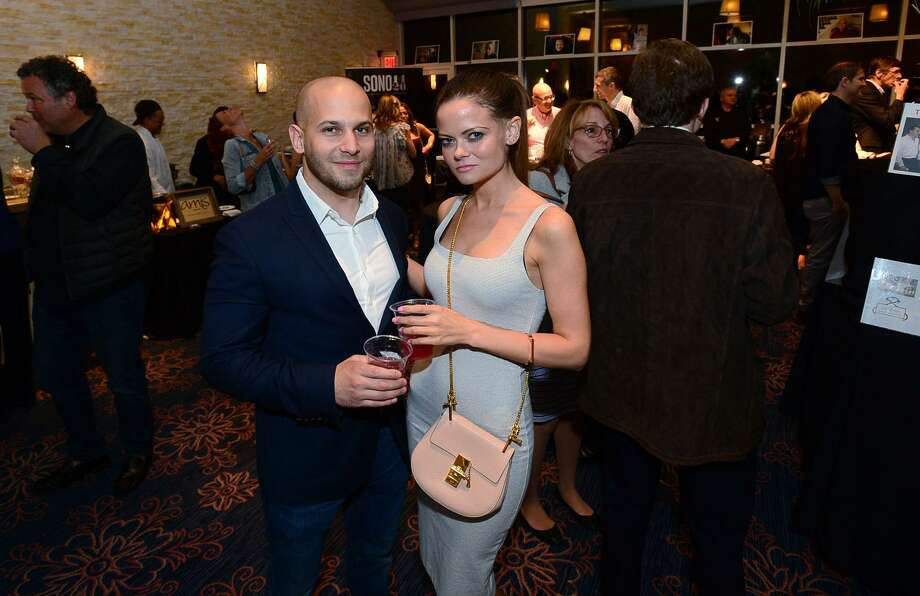 Stelios Stavrianos of Stamford and Erica Thomas of Fairfield atend The 15th annual Taste of Westport Thursday, May 9, 2019,at the Westport Inn in Westport, Conn. The event showcased the best of the local restaurant scene with experts in both classic comforts and gastronomic innovations. The charity event benefited CLASP, whose mission is to provide homes and opportunities for people with autism and developmental disabilities. Photo: Erik Trautmann / Hearst Connecticut Media / Norwalk Hour