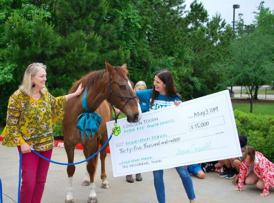 In a conclusion to the Coulson Tough Race for Awareness last month, the $35,000 raised enabled Inspiration Ranch to purchase a new horse for its therapy work. Photo: Submitted Photos / Submitted Photos