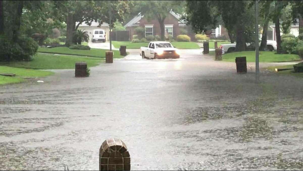 Neighborhood flooding in Kingwood Photo by: Ron Abbott