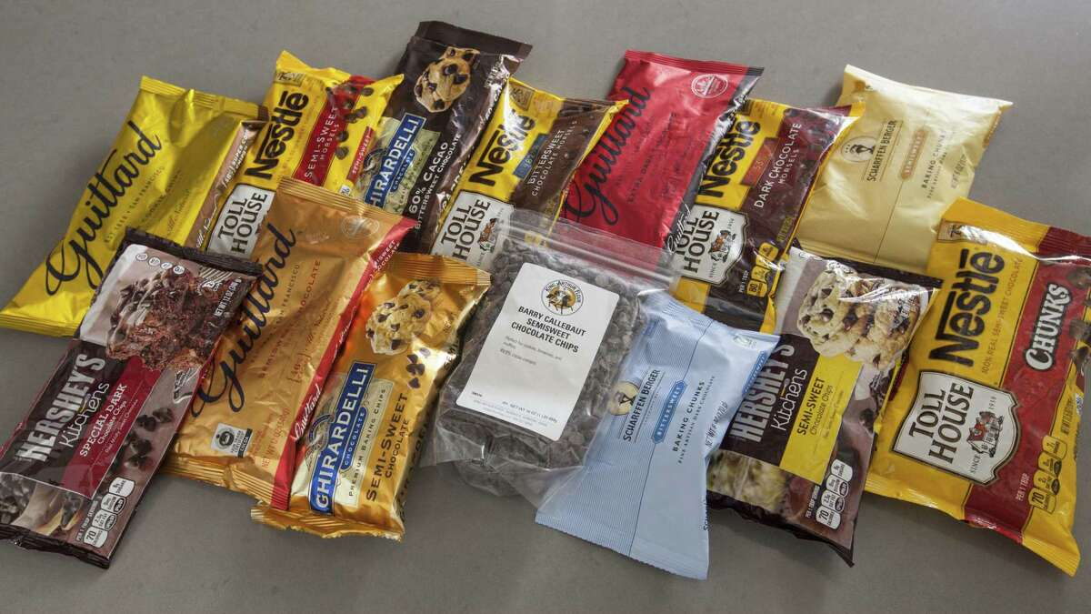 A variety of chocolate chips