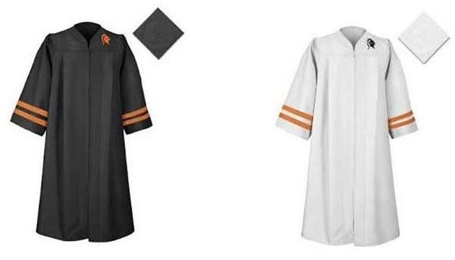 Stamford High seniors were asked to vote between two options for this year's graduation gowns, causing some backlash amongst students. Photo: David Collazzo / Contributed Photo