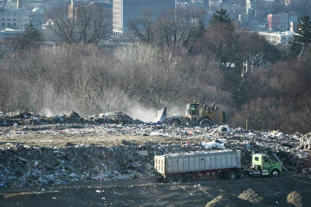 A view of work being done at the Dunn C&D Landfill on Monday, Jan. 14, 2019, in Rensselaer, N.Y. (Paul Buckowski/Times Union)