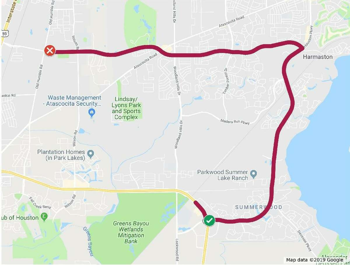 Buses will depart from hotels located at the George Bush Intercontinental Airport and will proceed slowly northbound on West Lake Houston Parkway from Beltway 8. The Warrior's buses will travel northbound then turn onto Will Clayton Parkway and travel westbound toward the Humble Civic Center located at 8233 Will Clayton Parkway.