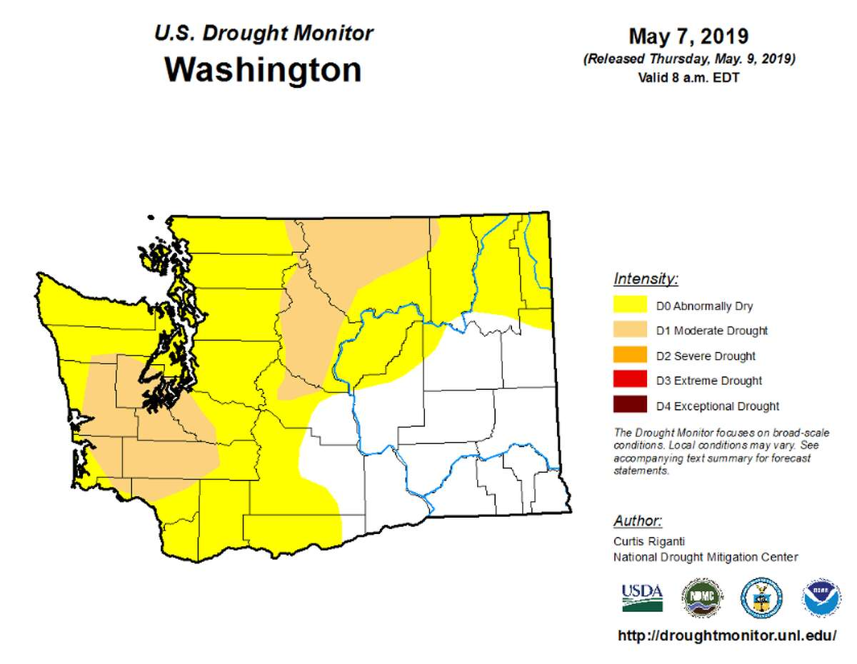 Washington is experiencing abnormally dry conditions in the Northeast and Southeast, with moderate drought in the Northwest, South Puget Sound, and Pacific Cascade. Recently, drought conditions have intensified in the Olympic region, now considered severe drought by the NIDIS.