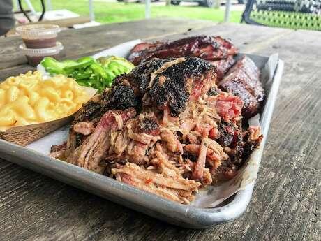 Pulled pork at CorkScrew BBQ