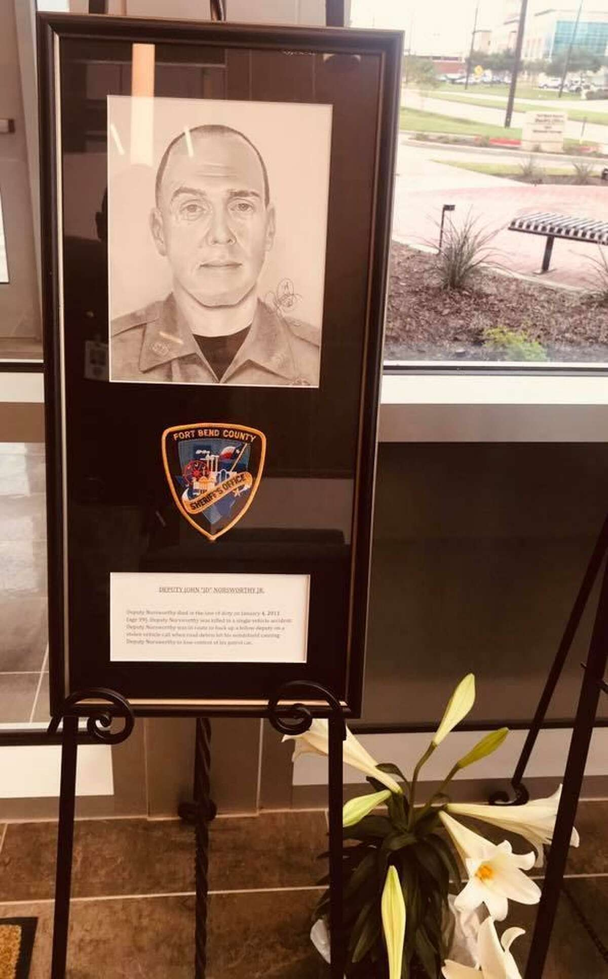 The Fort Bend County Sheriff's Office is commemorating fallen law enforcement officers at their administration building in Richmond, Texas through National Police Week, which ends on May 18.