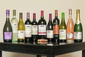 Kirkland Wine bottles.