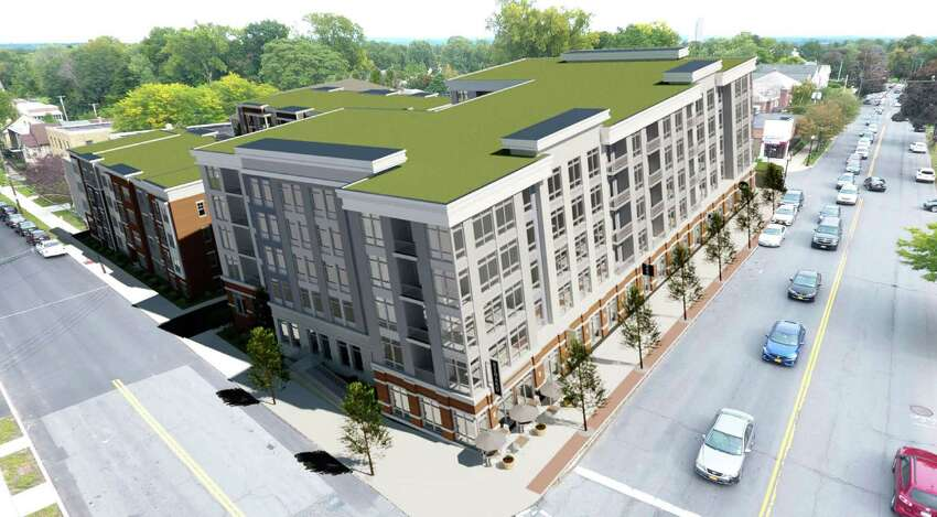 Rendering of the proposed 5 story building in the New Scotland Village development located at 563 New Scotland Avenue in Albany, N.Y. (City of Albany)